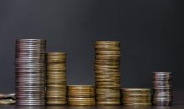 Большая куча украинских монеток Стоковая Фотография
