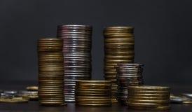 Большая куча украинских монеток Стоковое Фото