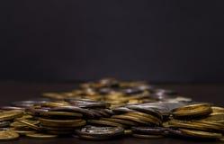 Большая куча украинских монеток Стоковое Изображение RF