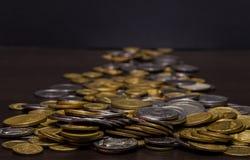 Большая куча украинских монеток Стоковое фото RF