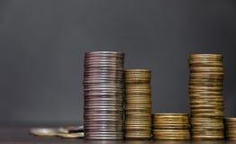 Большая куча украинских монеток Стоковые Фото