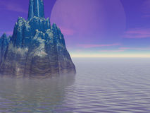 большая луна острова иллюстрация штока
