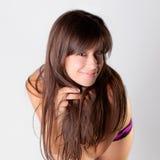 большая милая усмешка девушки Стоковая Фотография RF