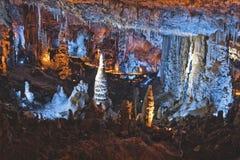 Большая пещера в Израиле Стоковое Фото