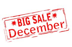 Большая продажа декабрь иллюстрация штока