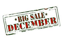 Большая продажа декабрь иллюстрация вектора