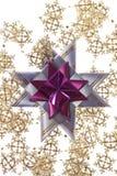 Большая пурпуровая звезда на серебряной гирлянде Стоковое Изображение