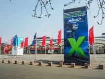 Большая реклама от страна-партнера Мексики на Ганновере Messe Стоковые Изображения