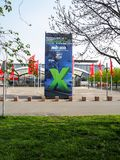 Большая реклама от страна-партнера Мексики на Ганновере Messe Стоковое Фото