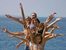 большая семья счастливая Стоковые Изображения