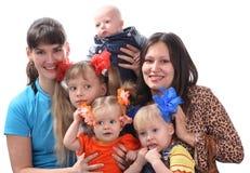 большая семья Стоковая Фотография