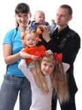 большая семья Стоковое Фото