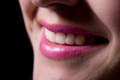 большая смеясь над женщина зубов усмешки Стоковые Изображения