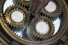 Большая стальная съемка шестерни Стоковая Фотография