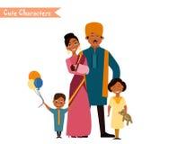 Большая счастливая индийская семья Стоковая Фотография RF