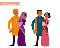 Большая счастливая индийская семья Стоковое фото RF
