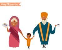 Большая счастливая индийская семья Стоковое Фото