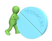 большая таблетка завальцовки марионетки персоны 3d Стоковое Изображение