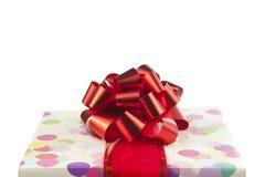 большая тесемка красного цвета подарка смычка Стоковая Фотография RF
