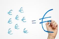 большая удача евро делает сбережения малым стоковое фото rf