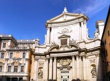 Большая церковь в центре Рим, Италии стоковые изображения