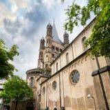 Большая церковь St Martin в Кельн Германия Стоковые Фото