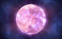 Большая челка и расширение вселенной иллюстрация вектора