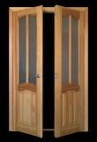 большая черная дверь раскрытая сверх Стоковые Фотографии RF