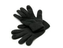 большая черная зима mittens стоковые фото
