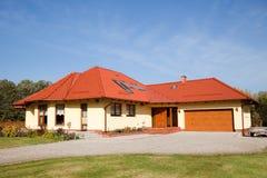 большая дом семьи одиночная Стоковая Фотография
