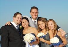 большая bridal партия Стоковая Фотография