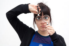 большая eyed девушка Стоковое Изображение