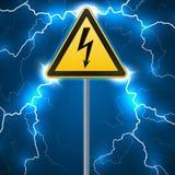 больше моего знака портфолио подписывает предупреждение Электрическая опасность Ограженная опасная зона штендер с знаком Забастов иллюстрация вектора