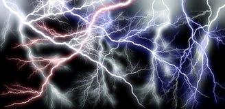 Больше силы каскада молнии Стоковые Фотографии RF