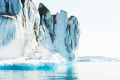 Большие айсберги в Гренландии Стоковая Фотография