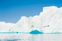 Большие айсберги в Гренландии Стоковые Изображения RF