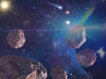 Большие астероиды причаливая земле Элементы этого изображения поставленные NASA бесплатная иллюстрация