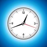 Большие белые часы стены Стоковое Изображение