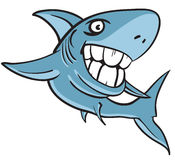большие большие людские зубы акулы белые иллюстрация вектора