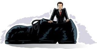 Большие ботинки, котор нужно заполнить Стоковая Фотография RF