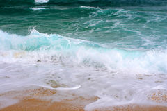 большие волны Греции Стоковая Фотография