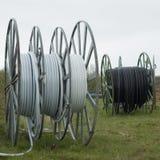 Большие вьюрки с спиральными гибкими трубами Стоковые Фото