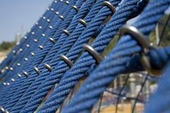 большие голубые веревочки спортивной площадки детей Стоковые Изображения RF