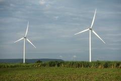большие голубые облака плавают вдоль побережья ветер белизны погоды неба Ирландии восточной фермы славный электричество производя стоковые фотографии rf