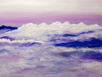 большие горы закоптелые Стоковое Изображение RF