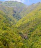 большие горы горы ландшафта Взгляд гор на парке лесохозяйства Queimadas трассы - Caldeirao Verde Стоковое Изображение