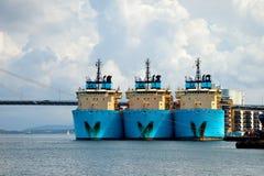 большие гужи порта Стоковые Изображения