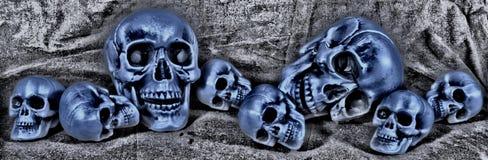 Большие и малые черепа случайно лежа там Стоковое Изображение