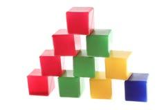 Большие конструкции от кубиков Стоковое фото RF