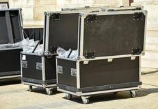 Большие коробки для транспортировать электронные оборудования Стоковая Фотография RF